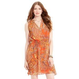 NWOT Ralph Lauren paisley print blouson dress